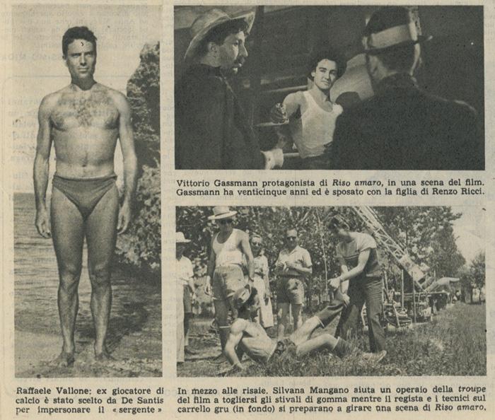 Si gira nel vercellese Riso amaro, giugno 1948