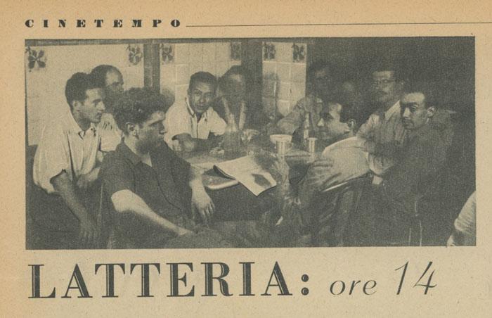 Latteria dei pittori Milano agosto 1945