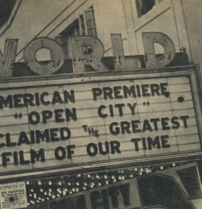 Open City (Roma, città aperta) World Theatre New York