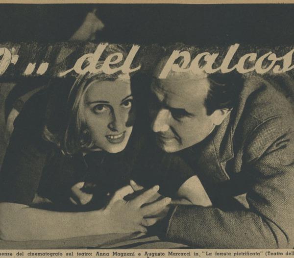 Anna Magnani e Augusto Marcacci in La foresta pietrificata