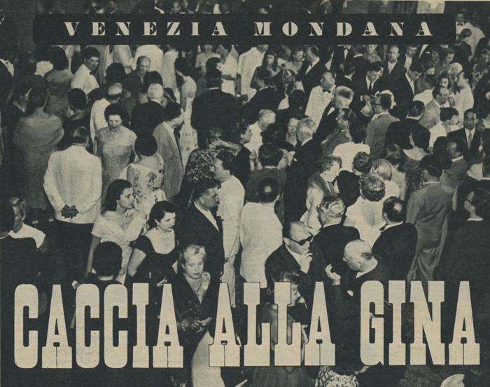 Caccia alla Gina Mostra di Venezia 1954