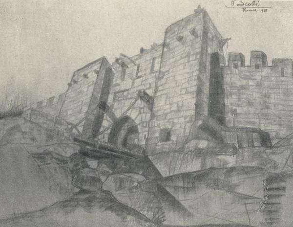 Il castello, bozzetto di Ottavio Scotti