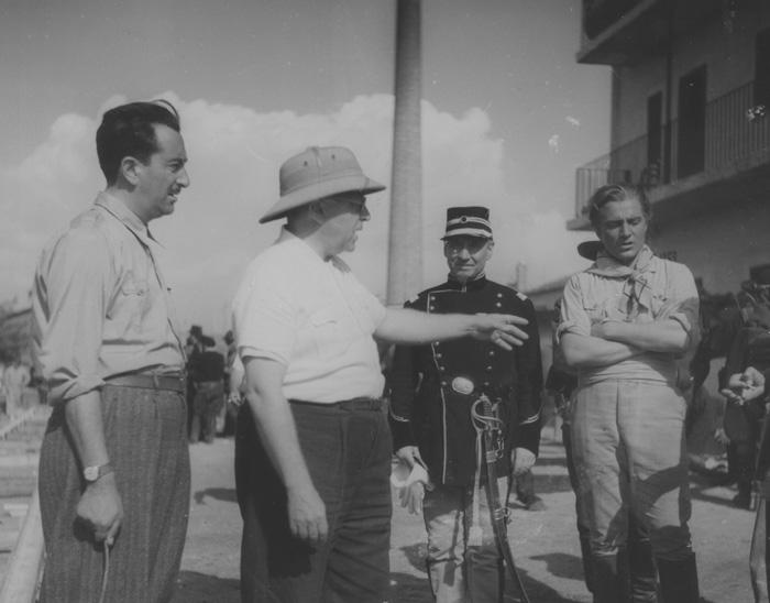 Ubaldo Arata, Karl Koch e Rossano Brazzi, si gira Una signora dell'Ovest